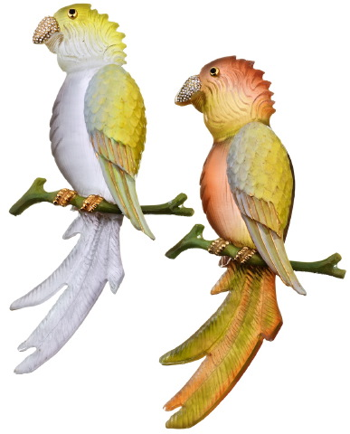 Luciteparrotbrooches