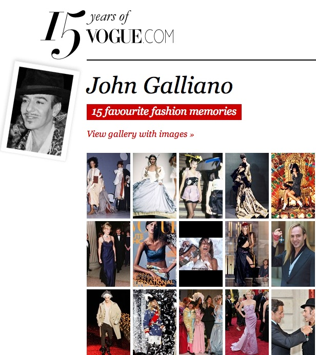 Vogue.com:John Galliano
