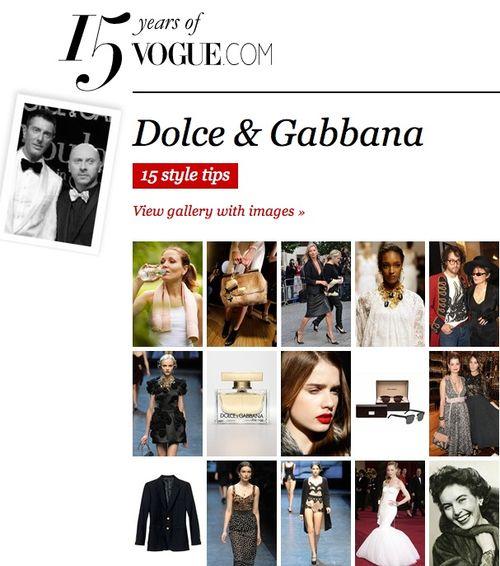Vogue.com:Dolce & Gabbana