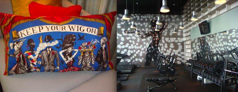 W London:pillow & gym