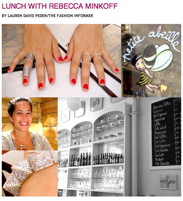 The Fashion Informer:Lunch with Rebecca Minkoff for Rue La La