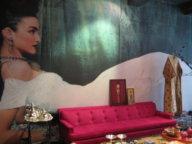 Reem Acra sitting room:mural