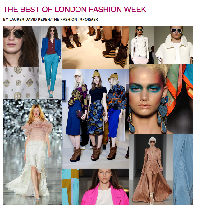 The Fashion Informer on Rue La La:Best of London Fashion Week