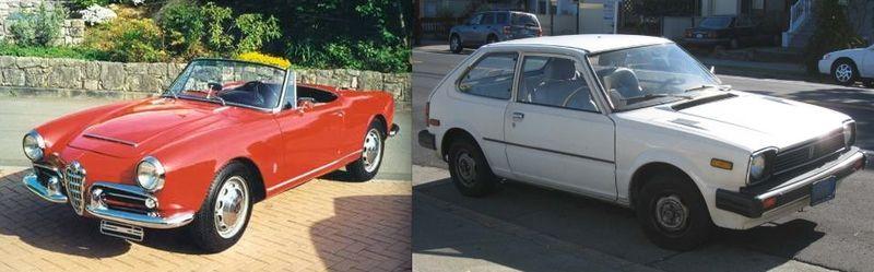 3a. Alpha Romeo Spider:Honda Civic