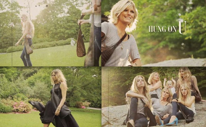 9. Hung on U montage:Patti Hansen:The Fashion Informer