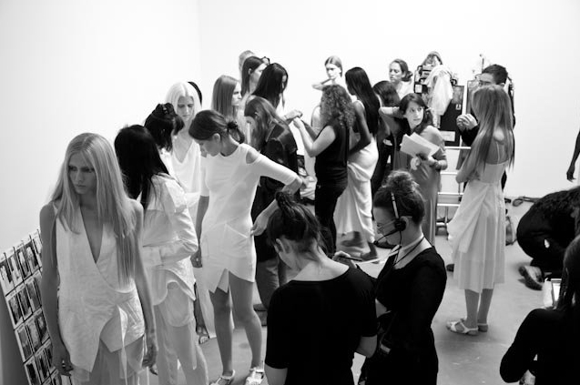 7. Backstage at Kimberly Ovtiz