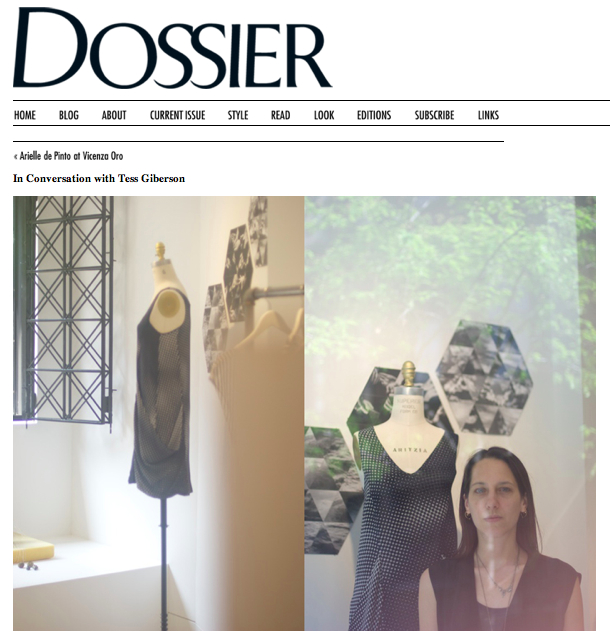 Dossier:Tess Giberson by Lauren David Peden:The Fashion Informer
