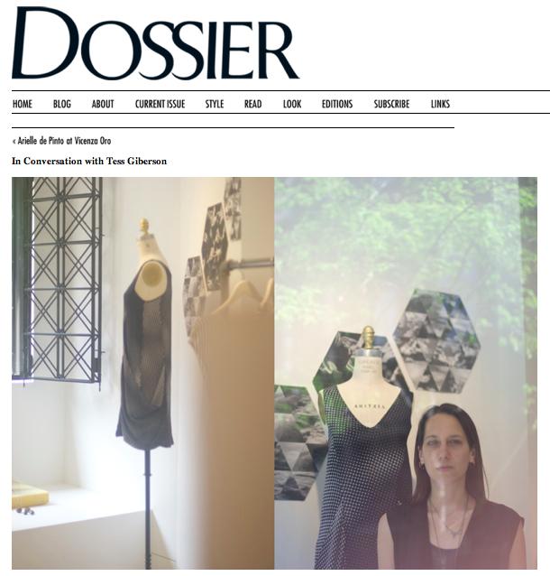 Dossier:Tess Giberson by Lauren David Peden:The Fashion Informer