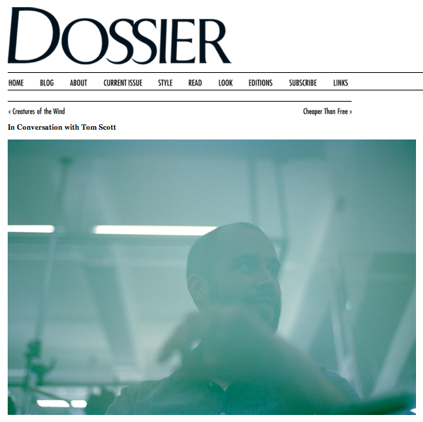 ICW Tom Scott:Dossier:The Fashion Informer