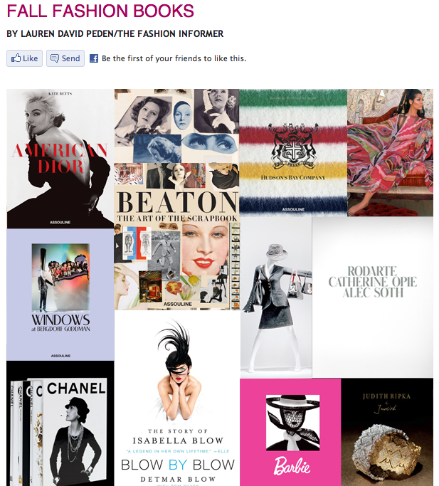 TFI on Rue La La-Fall Fashion Books