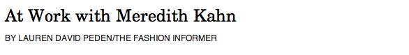 Rue La La:Meredith Kahn header
