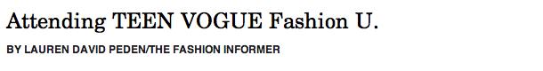 TFI on Rue La La:Teen Vogue Fashion U header