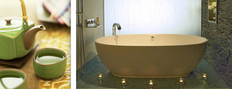 5b. Green tea and soaking tub