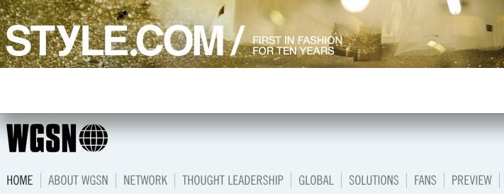 9. Style.com:WGSN logos