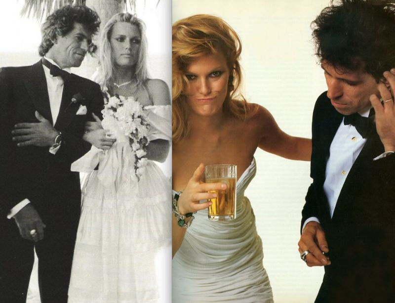 10. Patti Hansen and Keith Richards wedding by Annie Leibovitz