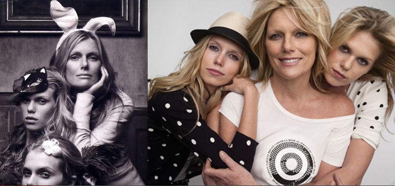 13. Patti Hansen, Theodora and Alexandra Richards