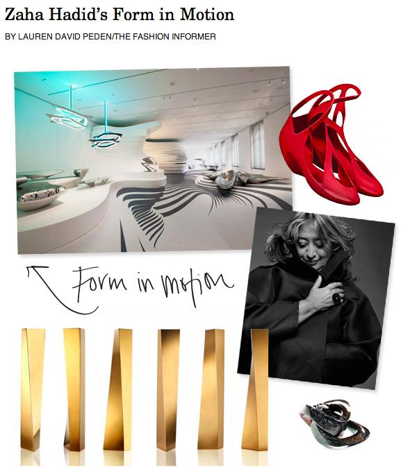 The Fashion Informer on Rue La La-Zaha Hadid