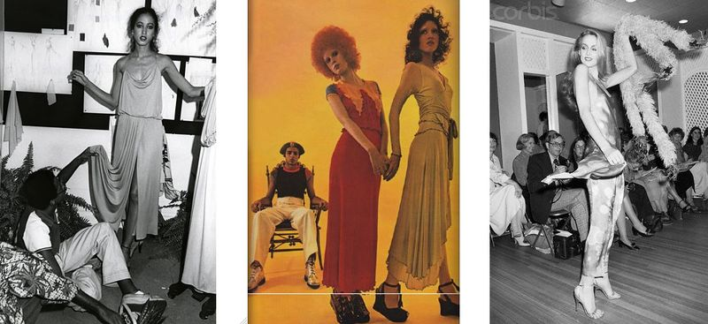 2. Stephen Burrows, Pat Cleveland, Jerry Hall:1970s