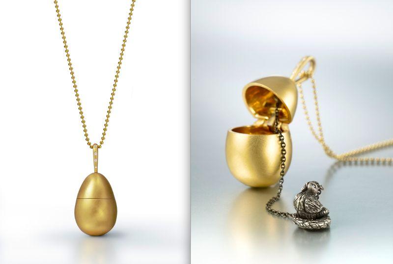 Wendy Brandes' Chicken:Egg necklace