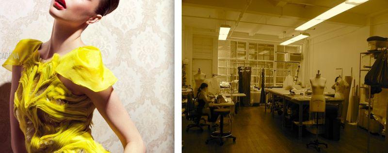 7. Gabriela Cardena workroom:The Fashion Informer