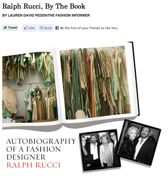 The Fashion Informer on Rue La La:Ralph Rucci