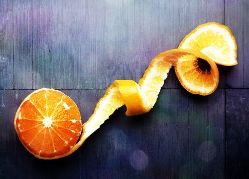 6. Orange peeled
