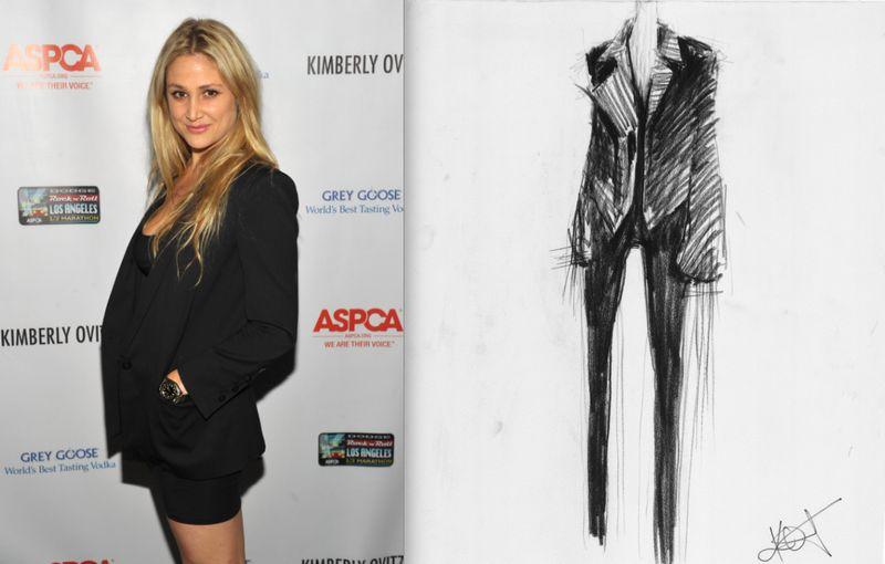 Kimberly Ovitz fall 2012 sketch:portrait:The Fashion Informer