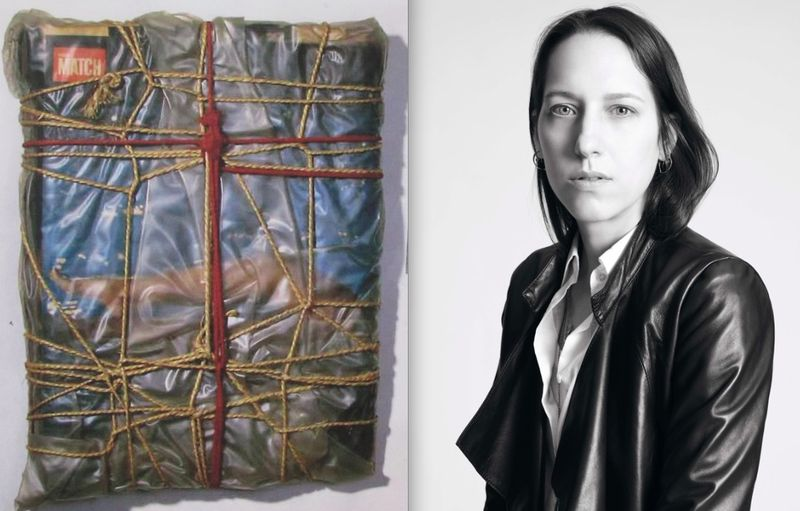 Tess Giberson portrait and Christo Wrap:Fall 2012 inspiration:The Fashion Informer