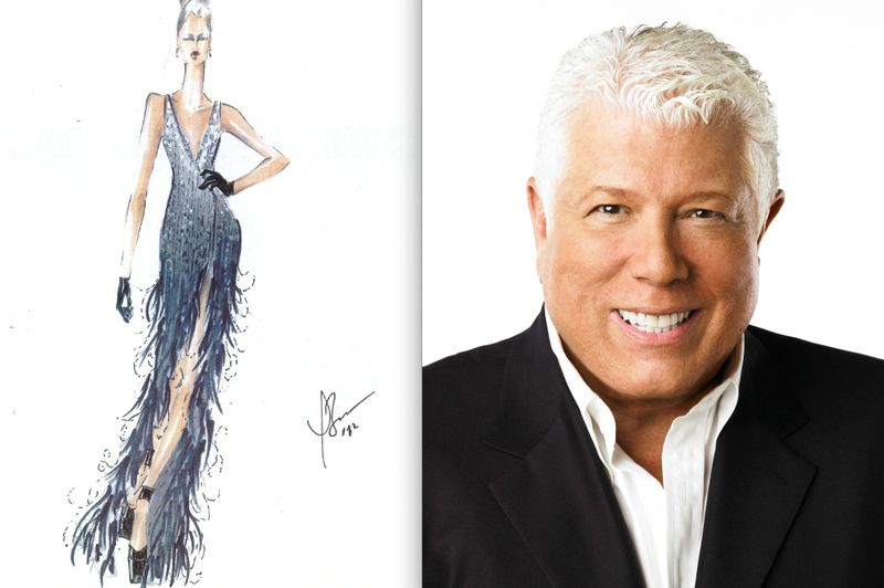 Dennis Basso fall 2012 sketch:portrait:The Fashion Informer