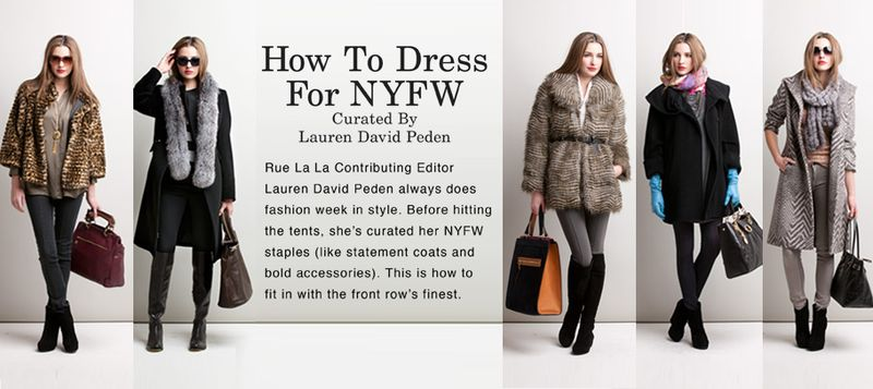 Lauren David Peden NYFW boutique:Rue La La