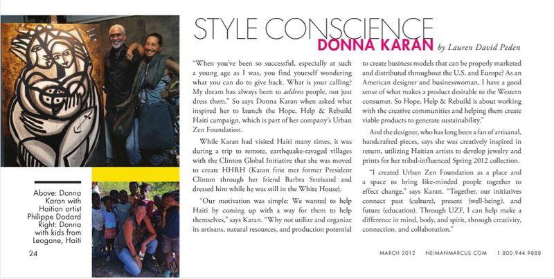 NM-March-Donna Karan:Haiti