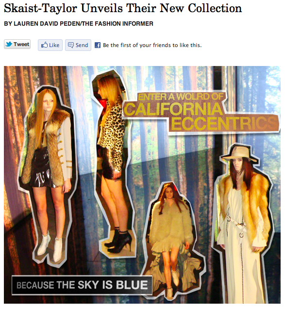 The Fashion Informer on Rue La La-Skaist-Taylor