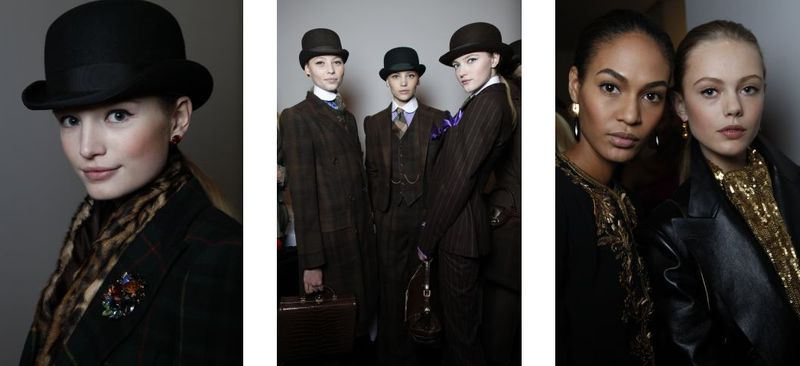 1. Backstage at Ralph Lauren fall 2012:The Fashion Informer