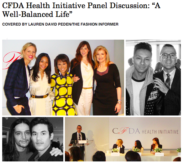 The Fashion Informer on Rue La La-CFDA Health Initiative panel
