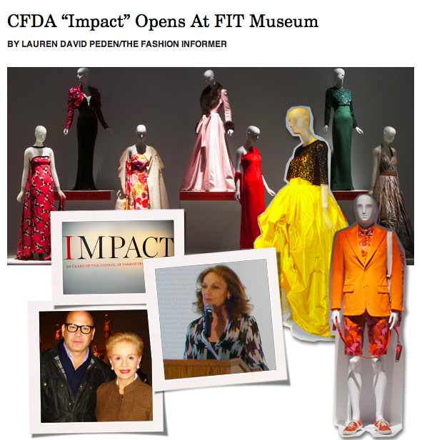 The Fashion Informer on Rue La La-CFDA %22Impact%22 Exhibit