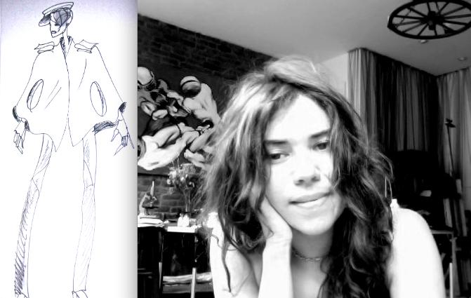 Katya Leonovich-portrait and sketch fall 2012:The Fashion Informer