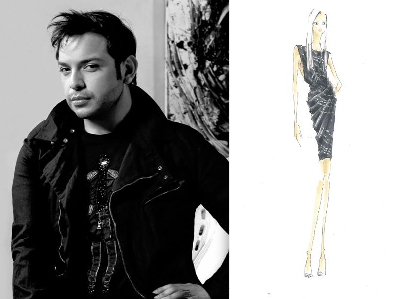 Rafael Cennamo portrait & fall 2012 sketch:The Fashion Informer