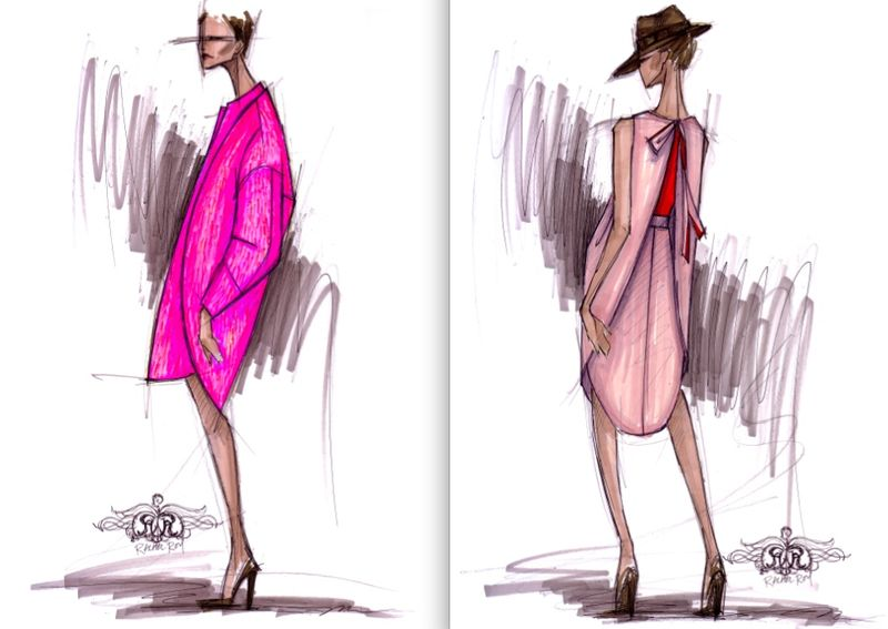 Rachel Roy fall 2012 sketches:The Fashion Informer