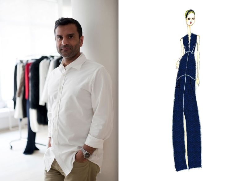 Jeffrey Monteiro:Bill Blass:Fall 2012 portrait and sketch:The Fashion Informer