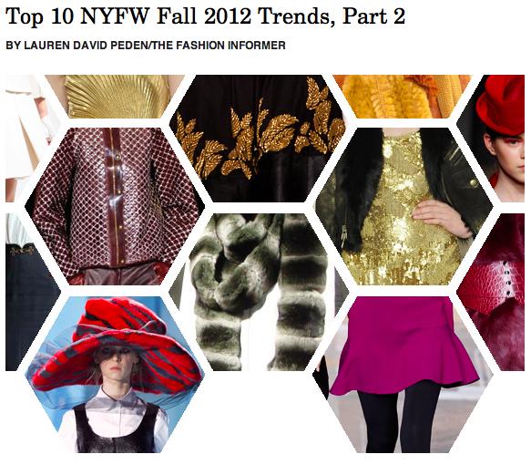 The Fashion Informer on Rue La La- Fall 2012 trends, part two