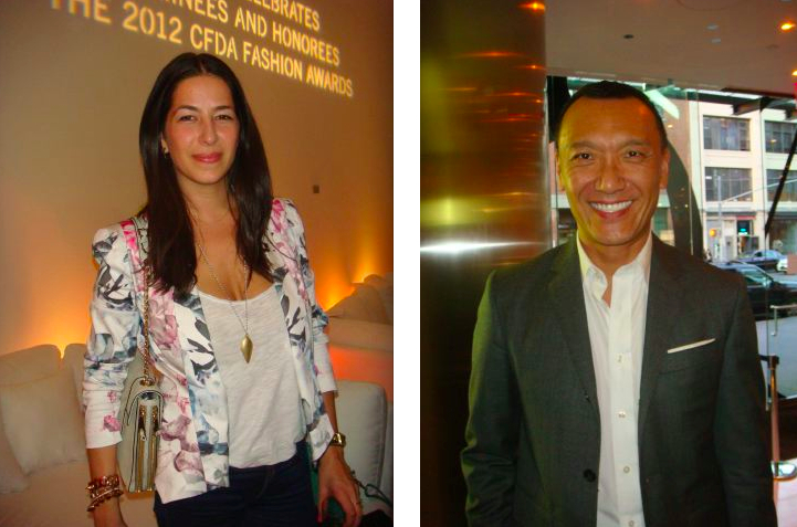 Rebecca Minkoff and Joe Zee at 2012 CFDA Awards Announcement party:The Fashion Informer