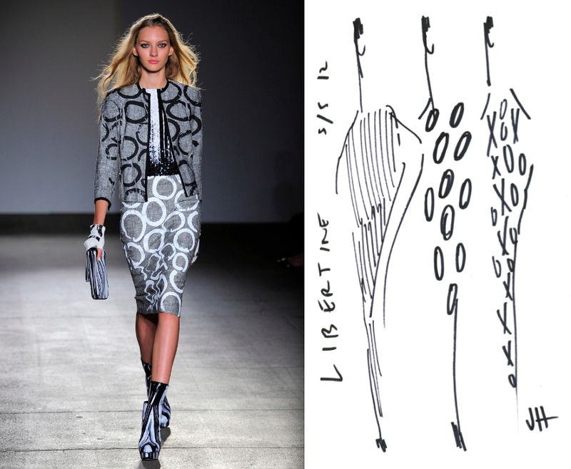 3a. Libertine spring 2012 runway look:sketch