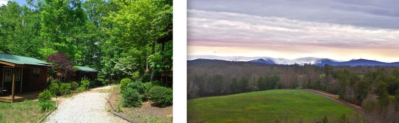 Dahlonega cabins:view from porch
