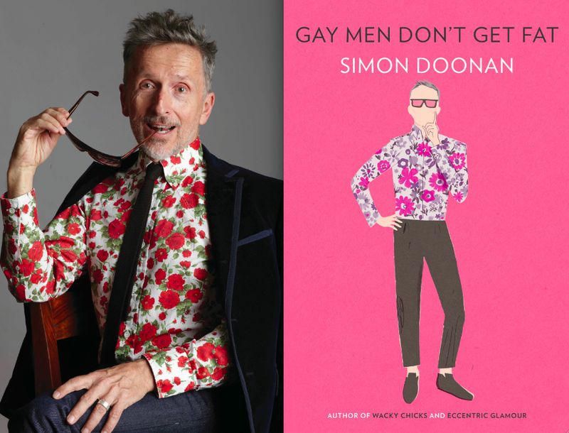 Simon Doonan portrait:book cover on The Fashion Informer