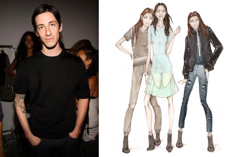 Daniel Vosovic portait and sketch:fall 2012:The Fashion Informer