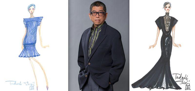 Tadashi Shoji fall 2012 sketches:portrait