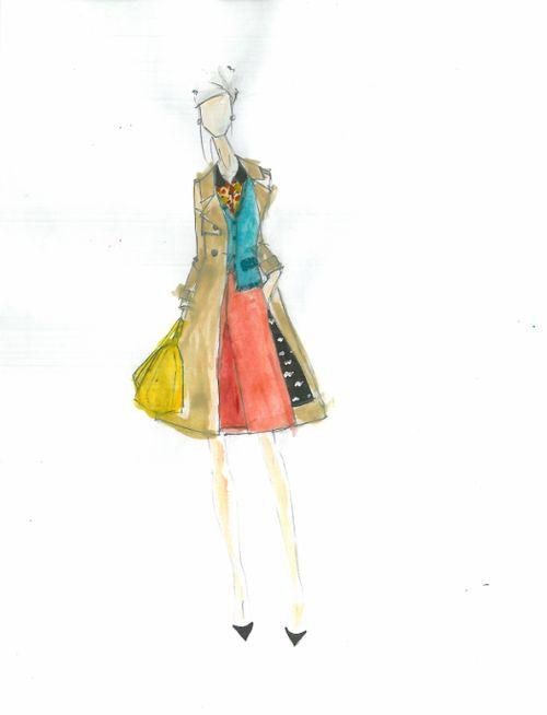 Kate Spade Fall 2012 sketch by Deborah Lloyd:The Fashion Informer