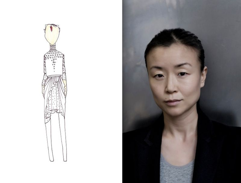 Doo.Ri fall 2012 sketch:portrait:The Fashion Informer