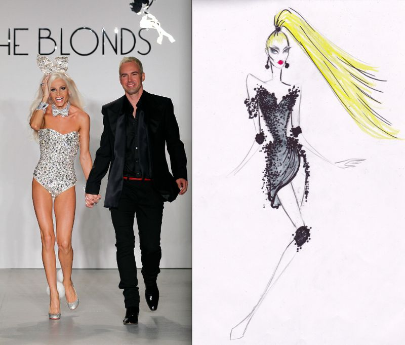 The Blonds portrait and fall 2012 sketch:The Fashion Informer