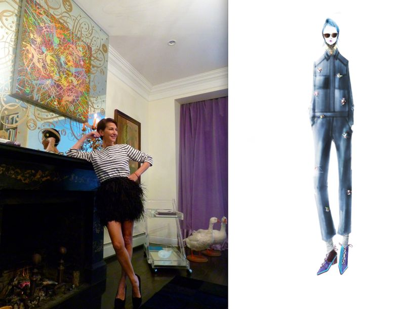 Cynthia Rowley fall 2012 sketch and portrait:The Fashion Informer